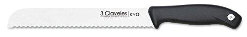 3 Claveles EVO Cuchillo panero, Acero Inoxidable, Multicolor, 20 cm - 8'
