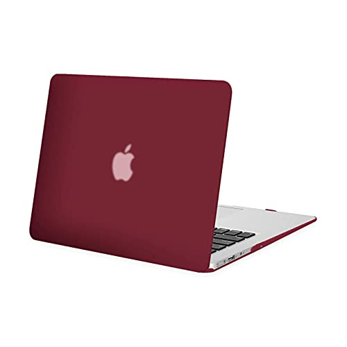 MOSISO Funda Dura Compatible con MacBook Air 13 Pulgadas (A1369 / A1466, Versión 2010-2017), Ultra Delgado Carcasa Rígida Protector de Plástico Cubierta, Vino Rojo