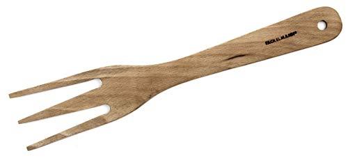 Fackelmann Tenedor Tres Dientes Color Madera Natura, para trinchar Carne Asada, cocinar, 25x4,5cm, 1ud 3