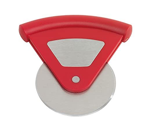 TOPICO Useful Cortador de Pizza, Acero Inoxidable, plástico, Rojo