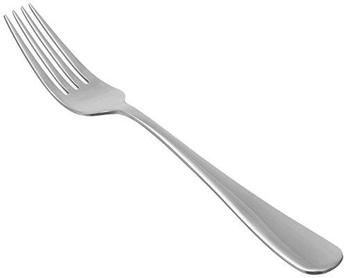 Amazon Basics - Tenedores de mesa de acero inoxidable, con punta redonda, juego de 12