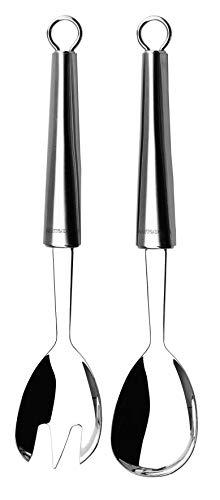 Lagostina Cucinieri Utensilios para Servir Ensalada, Acero Inoxidable, Plateado, 26 Cm, 2 Unidades