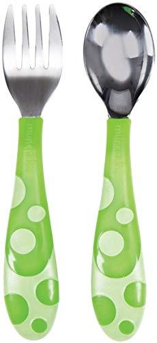 Munchkin - Juego de tenedor y cuchara para niños, surtido de colores