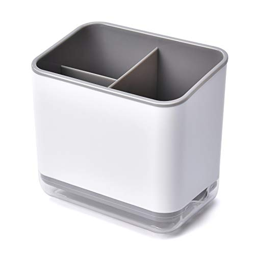 HomeMagic Organizador Sink Caddy Soporte para Utensilios, Cubiertos Fregadero Cuadro de cubertería escurridor de Rack de Almacenamiento Caja de Palillos Cuchara Tenedor escurridor Compartimento (2)