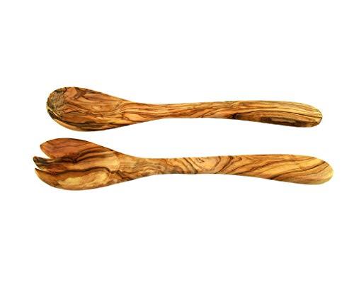 Sacred Customs Cubiertos para ensalada (30 cm, madera