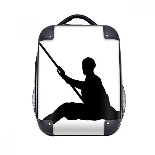 DIYthinker Shaolin palillo chino Monk soldado Caso duro de Cultura de transporte para hombro Niños Mochila 15' Regalo