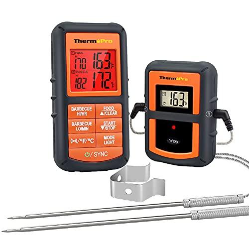 ThermoPro TP08 Termómetro de Cocina para Carne Alimento Barbacoa con Sonda Dual para Carne y Horno