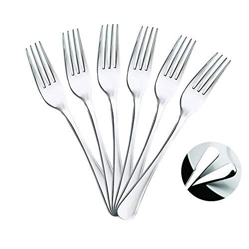 Mr. Spoon 6 Tenedores de Mesa Acero INOX. Colección Minimal 20 x 2,65 cm