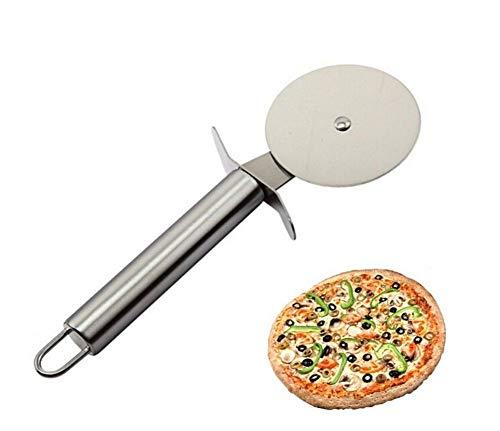 EUROXANTY® Cortador de Pizza y Pastas   Doble Rueda de 4cm   Acero Inoxidable   18 cm de Largo   1 Cortador Pizza