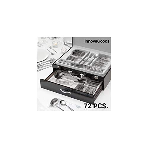 Innovagoods IG811600 Cubertera De Acero Inoxidable, Plateado