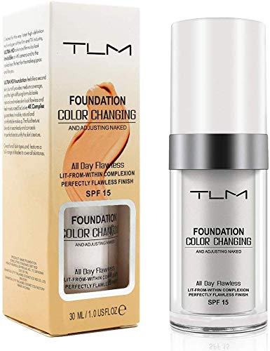 MOULLY Base de maquillaje, Flawless Foundation Color Changing, Concealer Cover Cream Cubierta del Corrector, Make Up Cream Colour Correcting BB Cream Hidratante