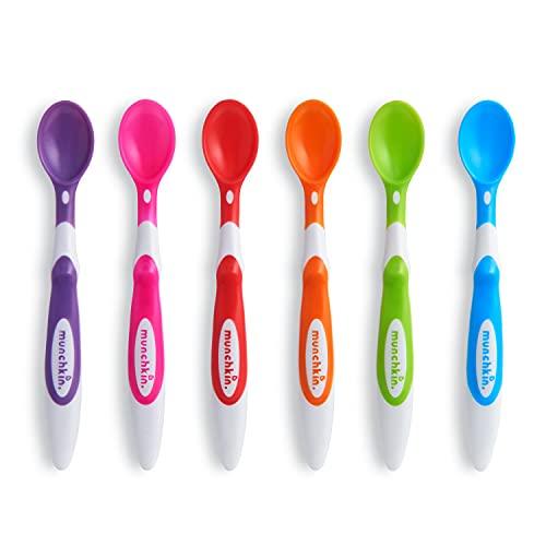 Munchkin - Juego de cucharas para niños (6 unidades, fácil agarre, para niños a partir de 3 meses)