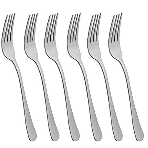 6 Tenedores de Mesa Acero INOX y acabado brillante. Colección Minimal (Tenedor de Mesa)