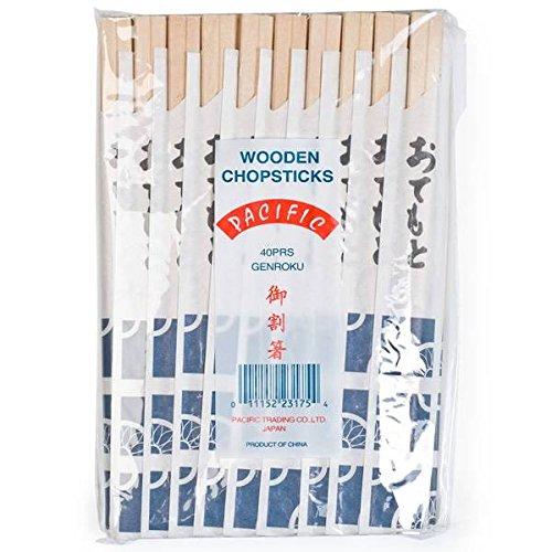 Unidades 40 x pares de palillos chinos desechables   Hashi
