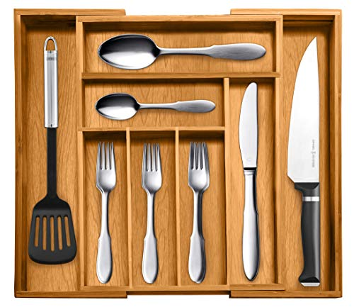 Bellemain Bamboo Expandable, Utensil - Cutlery and Utility Drawer Organizer by Bellemain