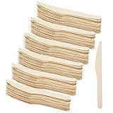 COM-FOUR® 72 Piezas cubiertos desechables consisten en cuchara, tenedor, cuchillo - cubiertos de madera desechables, cubiertos de madera ecológicos y biodegradables (072 piezas - mezcla de cubiertos)