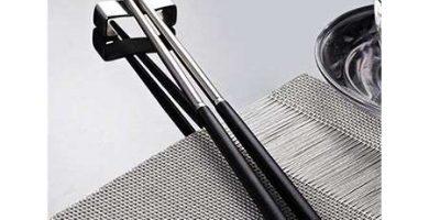 UWILD 5 Pares de Palillos de Acero Inoxidable Regalo Palillos Restaurante japonés fijado