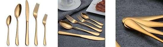 BERGLANDER Set de Cubiertos chapado en Oro de Titanio - 30 Piezas -