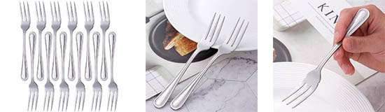 Juego de tenedor de pescado Buyer Star de 12 piezas color plata