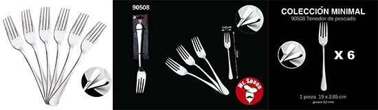 Mr. Spoon 6 Tenedor de Pescado Acero INOX comprar cubiertos para pescado