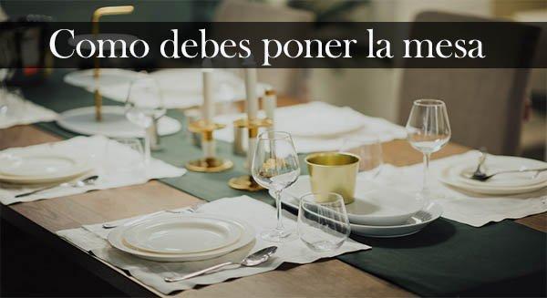 Como poner la mesa