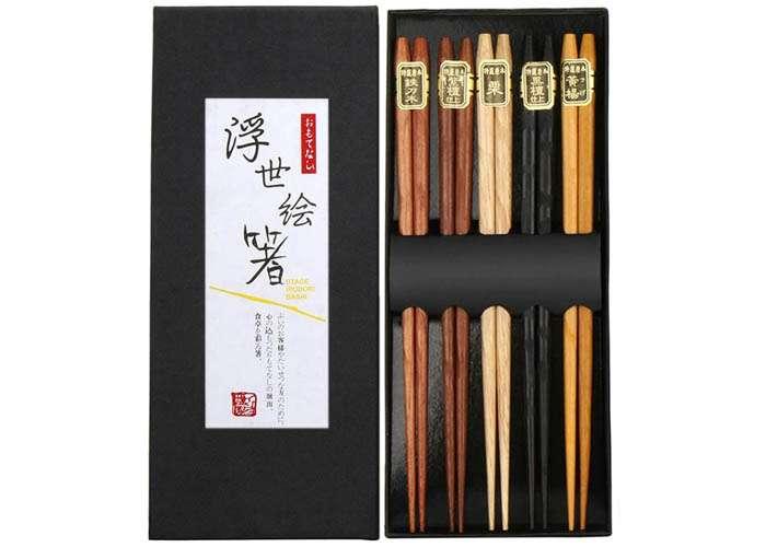 Palillos chinos de madera natural