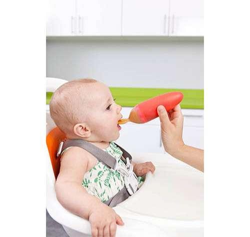 Boon Squirt Cuchara para bebés de silicona con dispensador de comida
